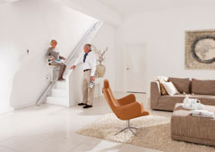 Options for straight stairlifts