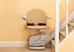 Seats for straight stairlifts